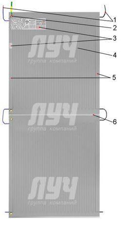 Схема устройства нагревателя Зебра