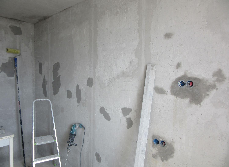 Огрунтованные стены