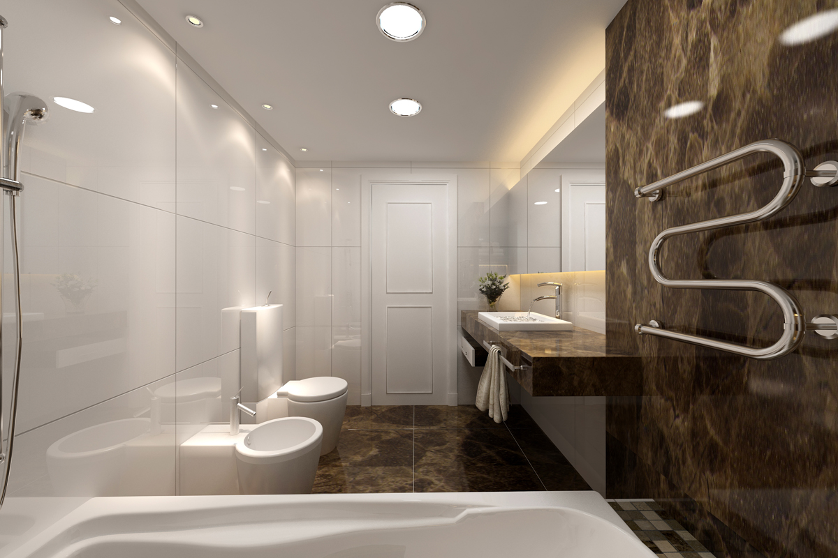 Фото современной ванной комнаты