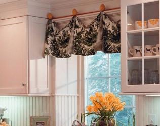 Дизайн штор для кухни 2014-2015 - фото новинки, советы в применении