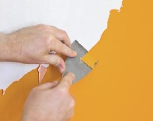 Как снять старую краску со стен: выбор способа