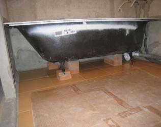 Как установить чугунную ванну: инструкция