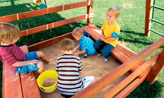 выбор места для детской песочницы