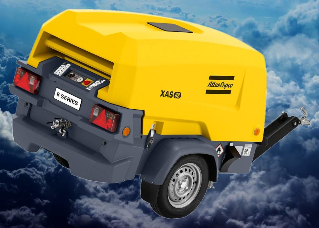 Компрессор Atlas Copco модель: XAS 88 Kd на шасси